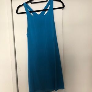Alice + Olivia Silk Blue Racerback Dress XS